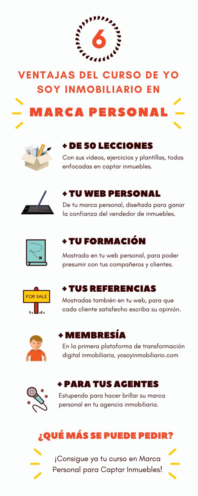 Infografia ventajas curso marca personal